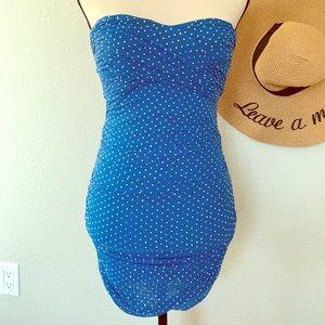 Blue Sparkles Mini Dress